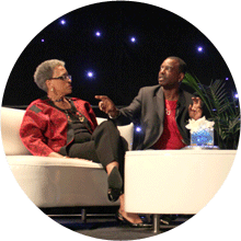 LeVar Burton and Dr. Johnnetta B. Cole